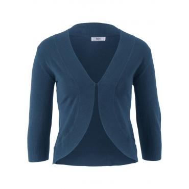 Strick-Bolero mit Halbarm in blau für Damen von bonprix