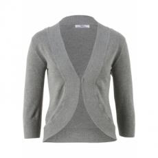 Strick-Bolero mit Halbarm in grau für Damen von bonprix