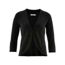 Strick-Bolero mit Halbarm in schwarz für Damen von bonprix