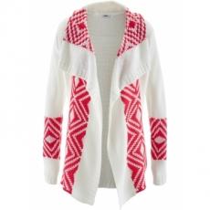 Strick-Jacke langarm  in weiß für Damen von bonprix