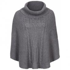 Strick-Poncho ohne Ärmel  in grau für Damen von bonprix