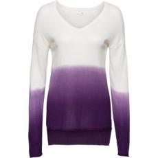 Strick-Pullover mit V-Ausschnitt langarm  in weiß für Damen von bonprix