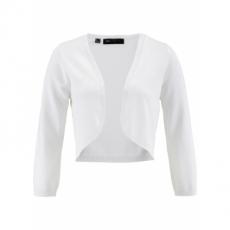 Strickbolero 3/4 Arm  in weiß für Damen von bonprix
