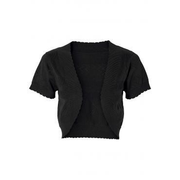 Strickbolero kurzer Arm  in schwarz für Damen von bonprix