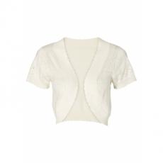 Strickbolero kurzer Arm  in weiß für Damen von bonprix