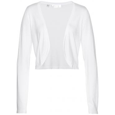 Strickbolero langarm  in weiß für Damen von bonprix