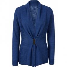 Strickcardigan in blau für Damen von bonprix