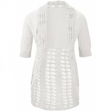 Strickjacke 3/4 Arm  in weiß für Damen von bonprix