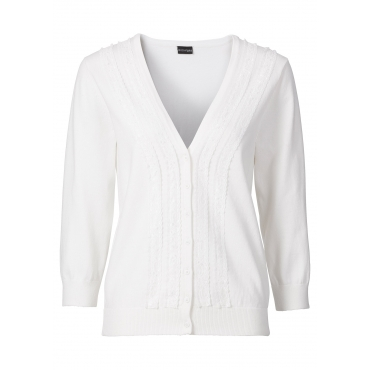 Strickjacke in weiß für Damen von bonprix