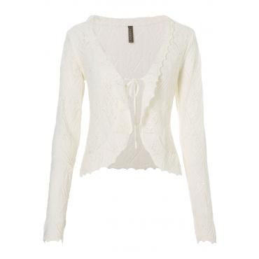 Strickjacke langarm  in weiß für Damen von bonprix