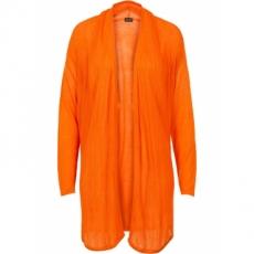 Strickjacke mit Schalkragen langarm  in orange für Damen von bonprix