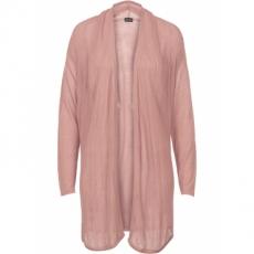 Strickjacke mit Schalkragen langarm  in rosa für Damen von bonprix