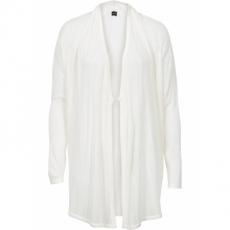 Strickjacke mit Schalkragen langarm  in weiß für Damen von bonprix