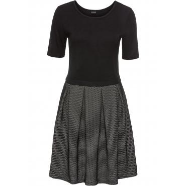 Strickkleid kurzer Arm  in schwarz für Damen von bonprix