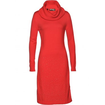 Strickkleid langarm  in rot für Damen von bonprix