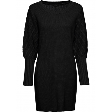 Strickkleid langarm  in schwarz für Damen von bonprix