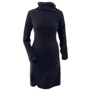 bodyflirt strickkleid langarm in schwarz von bonprix schwarz damenmode in bergr en. Black Bedroom Furniture Sets. Home Design Ideas