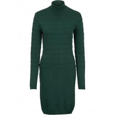 Strickkleid mit Rollkragen langarm  in grün für Damen von bonprix