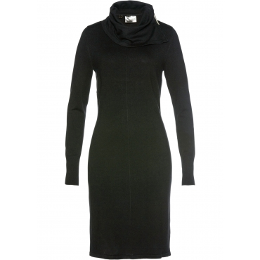 Strickkleid mit Rollkragen langarm  in schwarz für Damen von bonprix