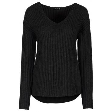 Strickpullover in schwarz für Damen von bonprix