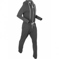 Sweat-Overall langarm  in schwarz von bonprix
