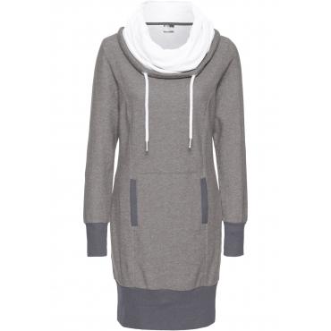 Sweatkleid, langarm in grau für Damen von bonprix
