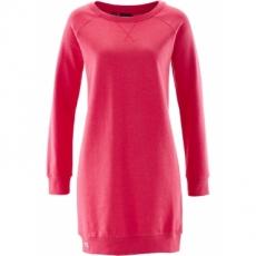 Sweatkleid langarm  in pink (Rundhals) von bonprix