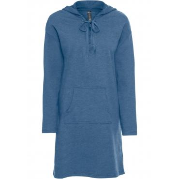 Sweatkleid mit Schnürung langarm  in blau für Damen von bonprix