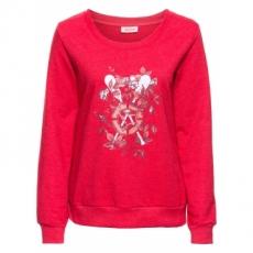 Sweatshirt, bedruckt, Langarm in rot für Damen von bonprix