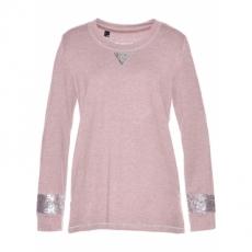 Sweatshirt mit Pailletten langarm  in lila für Damen von bonprix