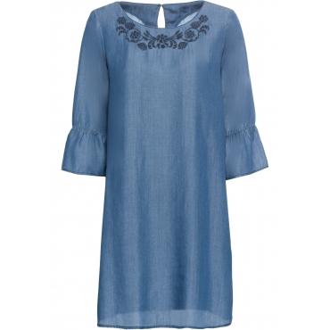 Tencel-Kleid kurzer Arm  in blau für Damen von bonprix