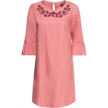 Tencel-Kleid kurzer Arm  rosa Damen bonprix