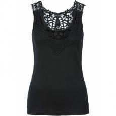 Top mit Spitze in schwarz für Damen von bonprix