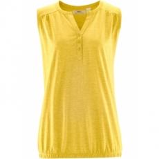 Top ohne Ärmel  in gelb (V-Ausschnitt) für Damen von bonprix