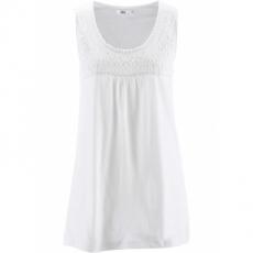 Top ohne Ärmel  in weiß (Rundhals) für Damen von bonprix
