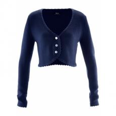Trachten-Strickjacke langarm  in blau für Damen von bonprix