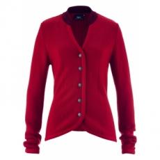 Trachten-Strickjacke mit Stehkragen langarm  in rot für Damen von bonprix