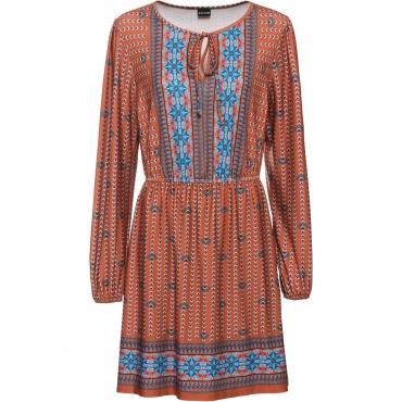 Tunika-Kleid langarm  in braun für Damen von bonprix