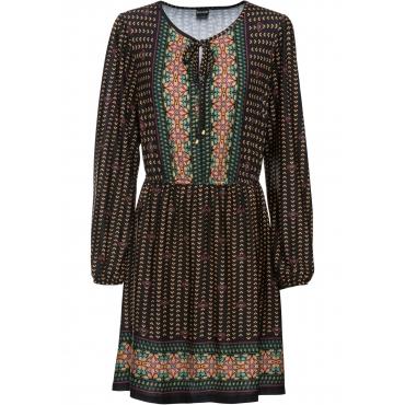 Tunika-Kleid langarm  in schwarz für Damen von bonprix