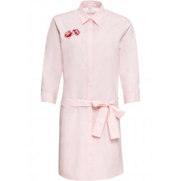 Tunika-Kleid mit Applikation 3/4 Arm  in rosa für Damen von bonprix