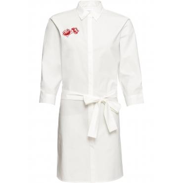 Tunika-Kleid mit Applikation 3/4 Arm  in weiß für Damen von bonprix
