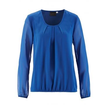 Bluse 3/4 Arm  in blau (Rundhals) von bonprix