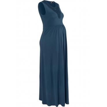 Umstands-Shirtkleid, lang ohne Ärmel  in blau von bonprix