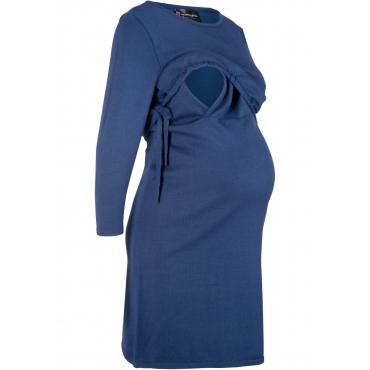 Umstands-Strickkleid / Still-Strickkleid 3/4 Arm  in blau für Damen von bonprix