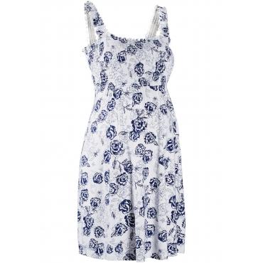 Umstandskleid aus Jersey ohne Ärmel  in weiß für Damen von bonprix