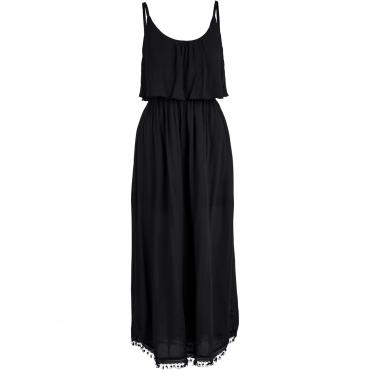 Volant-Midikleid ohne Ärmel  in schwarz für Damen von bonprix