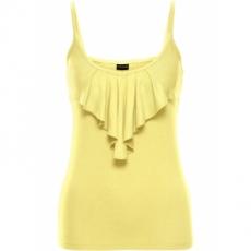 Volanttop ohne Ärmel  in gelb (V-Ausschnitt) für Damen von bonprix