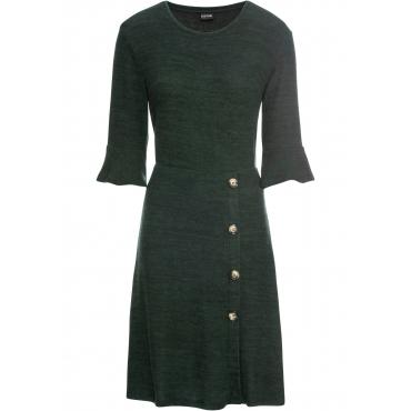 weiches Jerseykleid mit Knöpfen 3/4 Arm  in grün für Damen von bonprix
