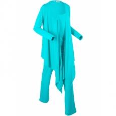 Wellness-Anzug im Beutel (3-tlg. Set) langarm  in blau für Damen von bonprix