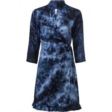Wickelkleid 3/4 Arm  in blau für Damen von bonprix